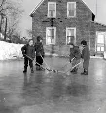 backyard hockey u2013 newcastle 1960 u0027s miramichi sports photos
