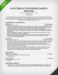 Samples Of Resume For Job Application by Electrical Engineer Resume Sample Resume Genius