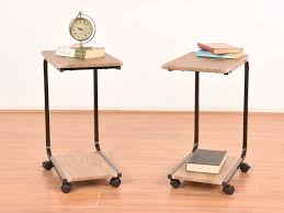 Rolling Laptop Desk by Skive Iron Frame Rolling Laptop Table By Housefull Set Of 2 Buy