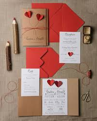 rustic wedding invitation set 20 hearts wedding invitation