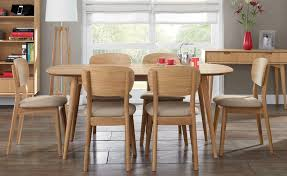 6 seater oak dining table oslo oak 6 seater dining table choice of 6 dining chairs table
