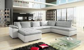 White Leather Corner Sofa Bed New Scafati Fabric And Leather Corner Sofa With Bed In Black Grey