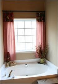 Bathroom Window Valance Ideas I Have A Window Just Like This In My Master Bath These Curtains