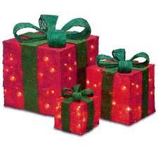 christmas boxes lighted gift boxes ebay
