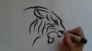 snake tiger tattoo how to draw tiger tattoo طرسقة رسم نمر وشم youtube