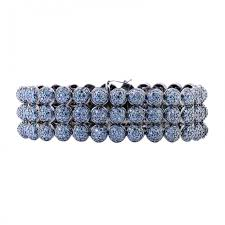 blue diamond bracelet images Diamond half bead 2d tennis bracelet white gold prong jpg