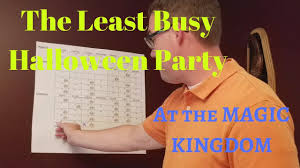halloween party colorado springs finding the least busy halloween party at the magic kingdom youtube