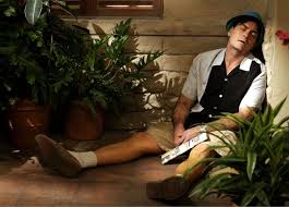 two and a half men charlie harper sleeping outside his house two