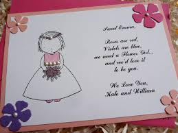 bridesmaid invites flower girl invitation mes specialist