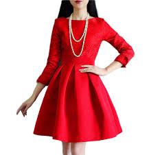 popular red skater dress with sleeves buy cheap red skater dress