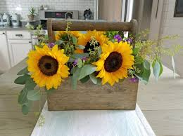 sunflower centerpieces rustic sunflower centerpiece
