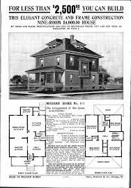 ad house plans architectures foursquare house plans sears homes vintage home