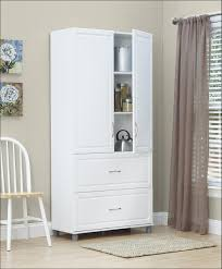 Tall White Linen Cabinet Furniture Amazing High Cabinet White Small Shelf With Doors Tall