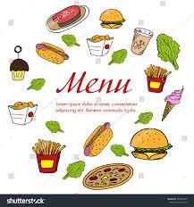 menu template restaurant decoration fast food stock vector
