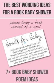 bring book instead of card to baby shower book baby shower invitations wording ideas cutestbabyshowers