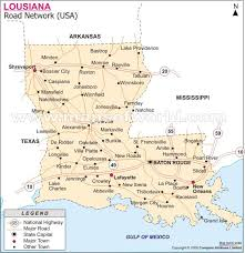 louisiana map in usa road map usa