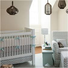 Two Tone Gray Walls by Bedroom Two Tone Blue Chevron Nursery Bedding Mist And Gray