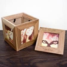 personalised keepsake box personalised oak photo cube keepsake box specialmoment co uk