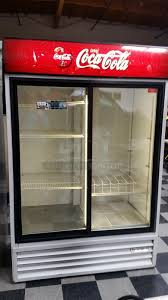coca cola fridge glass door pci auctions restaurant equipment auctions commercial auctions