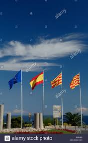 Flag Of The European Union Flags Of European Union Spain Catalonia And Tarragona Stock
