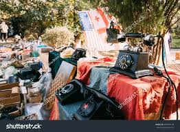 Flea Market Flags Tbilisi Georgia Shop Flea Market Antiques Stock Photo 696594148