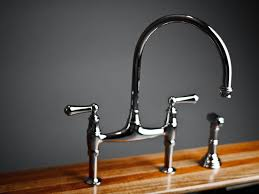 Polished Nickel Kitchen Faucets Sink U0026 Faucet G Personable Polished Nickel Bridge Faucet