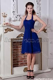fancy halter royal blue short cocktail dress img 2046 1st dress com