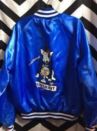 bud light baseball jersey sports jacket satin spuds mackenzie bud light back design