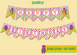 printable banner barney friends party handswithgrace
