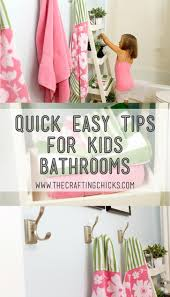 quick easy tips for kids bathrooms