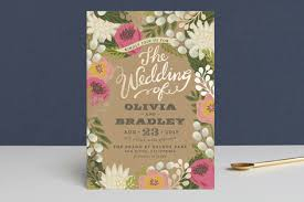 wedding invatations floral canopy foil pressed wedding invitations by griffinbell