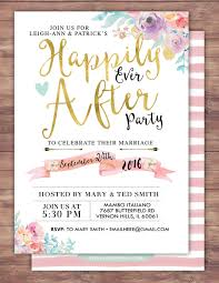 couples shower happily after invitation boho wedding shower invitation