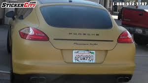 matte flat black vinyl car wrap sticker decal sheet film bubble free porsche panamera turbo matte gold vinyl car wrap youtube