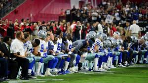 monday night football cowboys kneel before national anthem fox news