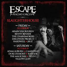 halloween dj drops escape psycho circus 2016 lineup main stage artists announced