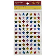recollections star stickers multi colored