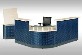 Office Reception Desk Designs Office U0026 Workspace Large L Shaped Dotted Blue Reception Desk