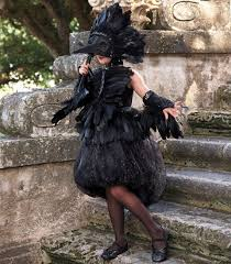 midnight raven costume chasing fireflies kids feather