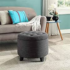 amazon com provence teal tufted new velvet ottoman round