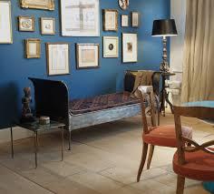 blue danube benjamin moore basement looks vibrant in the light