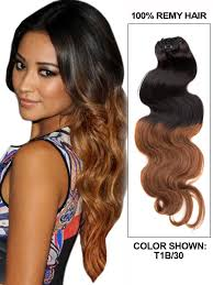 ombre hair extensions clip in 30 inch ombre clip in hair extensions two tone wave 9 pieces