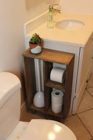 Bathroom Vanity With Shelves Hide Unsightly Toilet Items With This Diy Side Vanity Storage Unit
