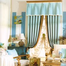 Baby Blackout Curtains Baby Blue Linen Cotton Modern Blackout Curtains