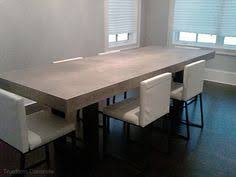 Concrete Tables For Sale Polished Chunky Concrete Dining Table With Industrial By Breuhaus