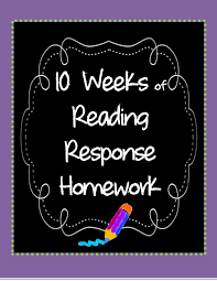 Ten Weeks of Reading Response Homework   Scholastic com Click the image above to download ten different customizable reading response homework sheets plus directions  examples  rubrics  and lined paper
