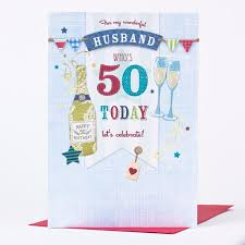 50 birthday card 50th birthday card husband bunting only 1 49
