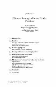 Sample Psw Resume by Effects Of Prostaglandins On Platelet Function Springer