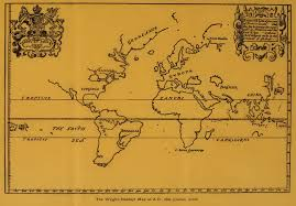 Flat Map Of The World 1600 The Wright Hakluyt Map Of The World Exploration Maps Of