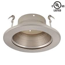 can light trim kits lighting inch recessed light trim with satin nickel baffle