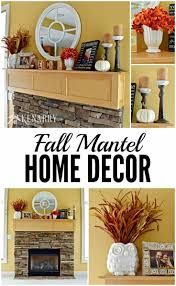fall mantel decor ideas orange and yellow accents